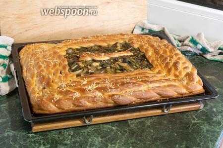 Вкусный дрожжевой пирог с мангольдом готов! Приятных гастрономических впечатлений!