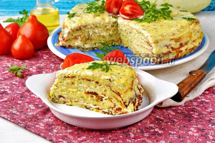 Фото Кабачковый торт с плавленным сыром