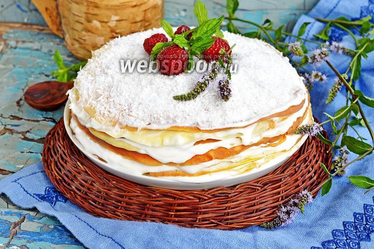 Фото Блинный торт со сметанным кремом