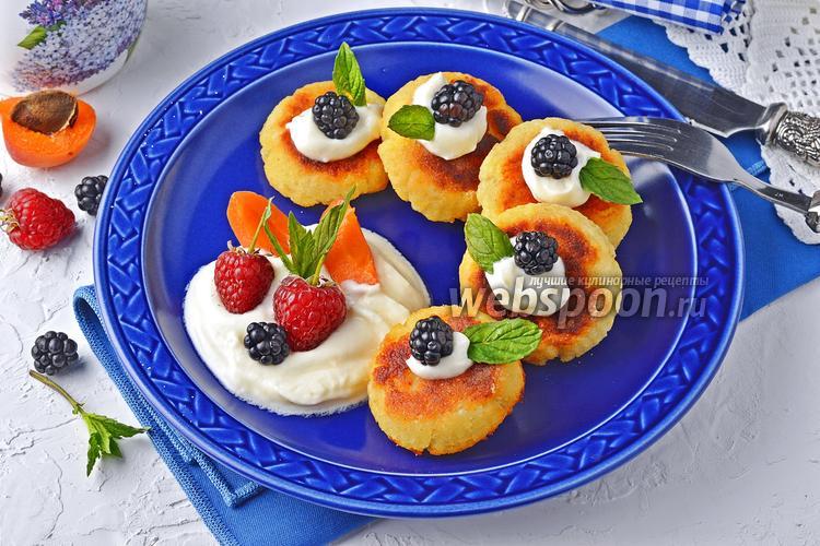 Фото Сырники без яиц в духовке