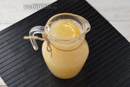 Перелить лимонад в кувшин и хорошо охладить в холодильнике. Дынный лимонад готов. Дынный лимонад можно подавать с кубиками льда и ломтиками лимона.
