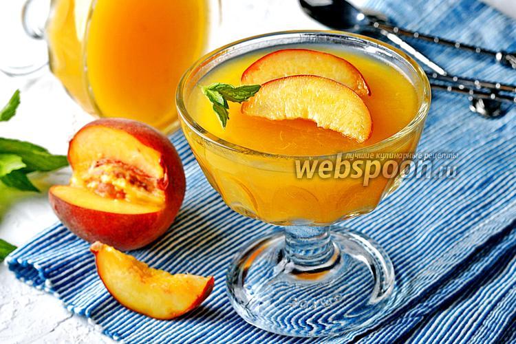 Фото Желе из персиков