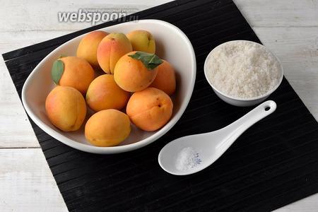 Для приготовления абрикосового варенья без косточек на зиму нам понадобятся абрикосы, сахар и лимонная кислота.