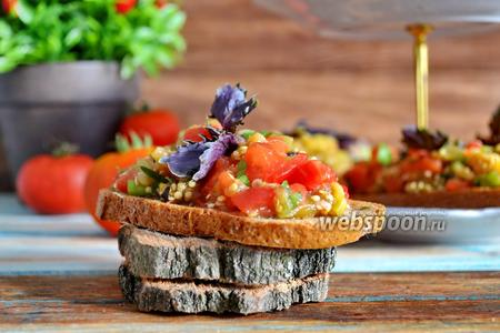 Гренки с овощами