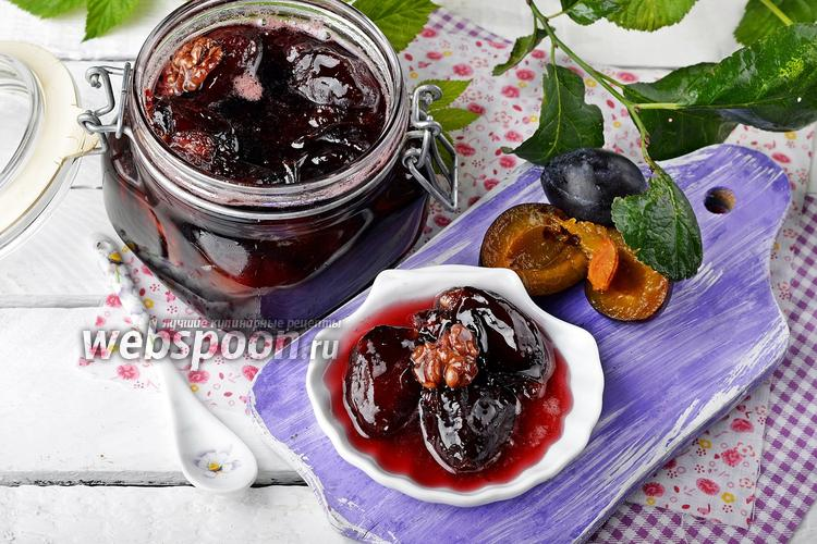 Фото Варенье из слив с грецкими орехами