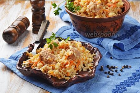 Рис с консервированным тунцом