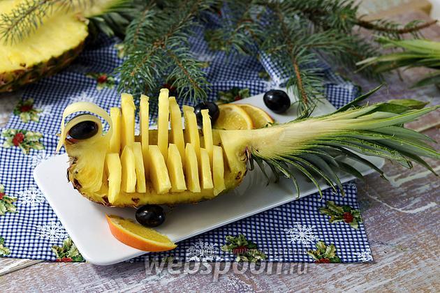 Фото Как красиво нарезать ананас