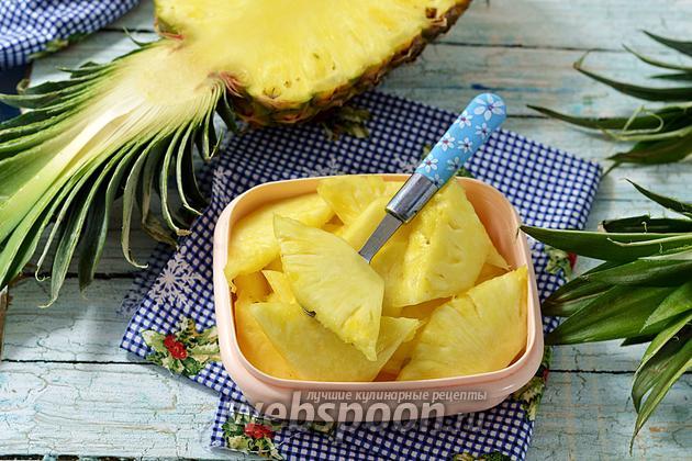 Фото Как заморозить ананас