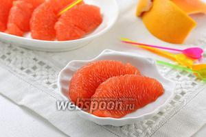 Фото совета Как чистить грейпфрут