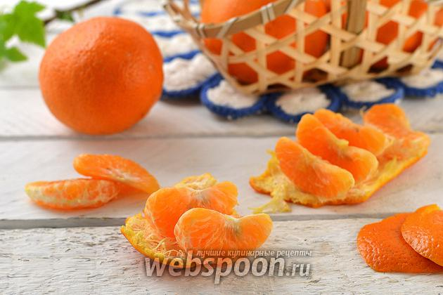Фото Как чистить мандарин