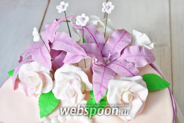 Фото Как сделать цветы из мастики