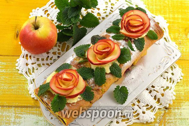 Фото Розы из яблок