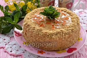 Фото совета Как собрать торт не перекладывая его с одной тарелки на другую