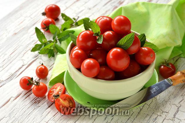 Фото Как быстро нарезать помидоры черри
