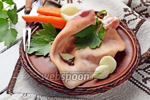 Фото совета Как варить свиные уши