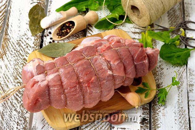 Фото Как обвязать мясо перед запеканием