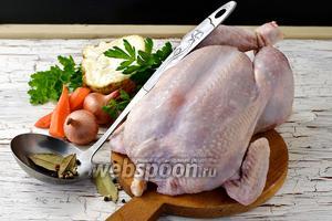 Фото совета Как варить целую курицу