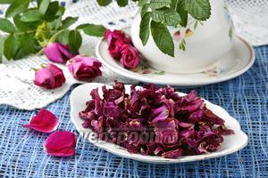 Фото совета Как сушить чайную розу