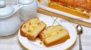 Фото рецепта Манник на кефире с бананами