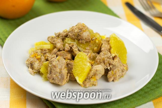 Фото Куриное филе под апельсинами
