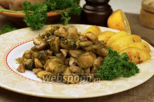 Брюссельская капуста с грибами