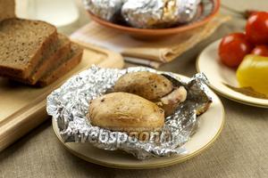 Картошка с салом запечённая в фольге