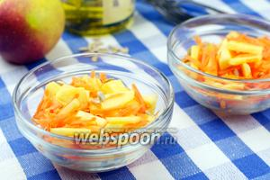Салат из моркови и яблок с семечками
