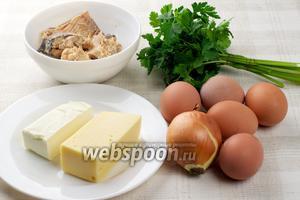 Приготовление салата Мимоза требует наличия таких продуктов: яйца, твёрдый сыр, сливочное масло предварительно положить в морозилку, чтобы удобно было тереть его на тёрке. Лучше брать рыбную консерву в масле или собственном соку, это может быть горбуша, сайра, скумбрия.
