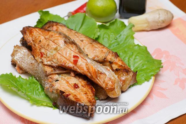 Рыбный шашлык рецепт на мангале 90