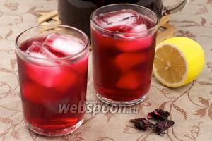 Чай каркаде с имбирём