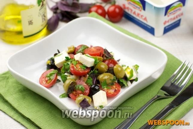 Фото Салат из фетаксы с помидорами черри