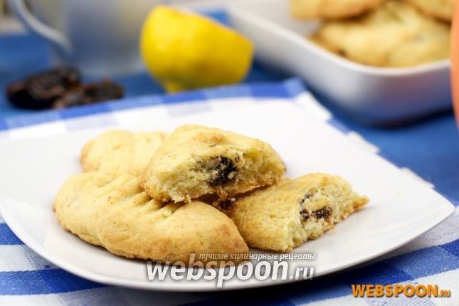 Фото Песочное печенье с финиками