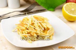 Салат из сельдерея с яблоками