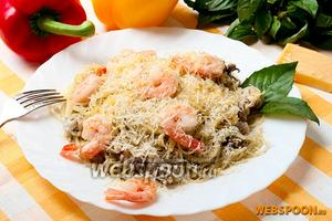 Спагетти с морским коктейлем