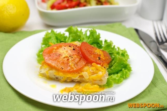 Фото Филе хека запечённое с овощами