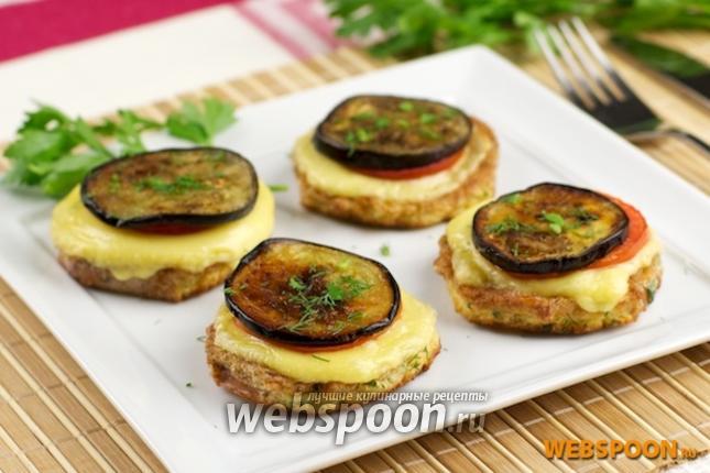 Фото Запечённые баклажаны с помидорами