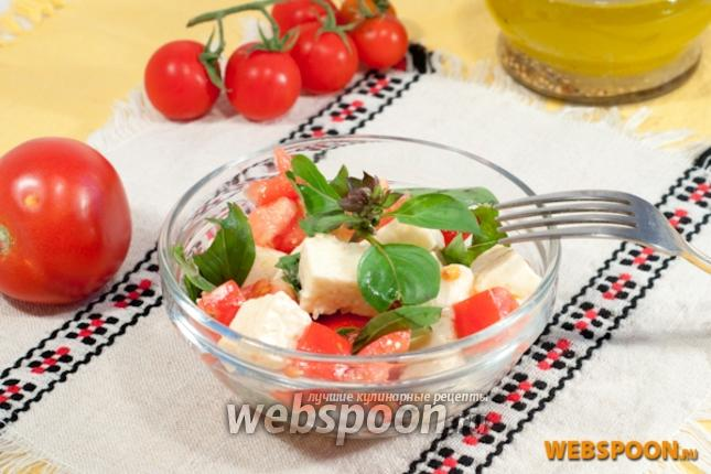 Фото Салат из томатов и брынзы