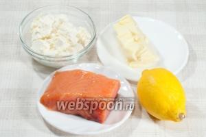 Вам понадобится: подкопченая форель (напомню, что можете взять рыбу на своё усмотрение), сливочный сыр, масло сливочное, сок половины лимона, укроп.