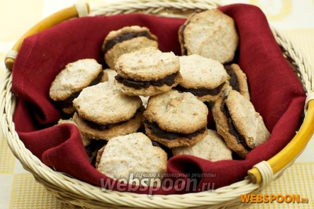 печенье миндаля рецепт с начинкой
