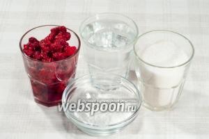 Вам понадобится: малина свежая, вода питьевая, сахар, крахмал.
