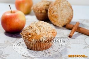 Яблочные маффины со штрейзелем