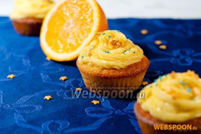 Фото Апельсиновые капкейки