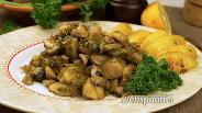 Фото рецепта Брюссельская капуста с грибами