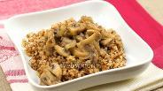 Фото рецепта Гречневая каша с грибами