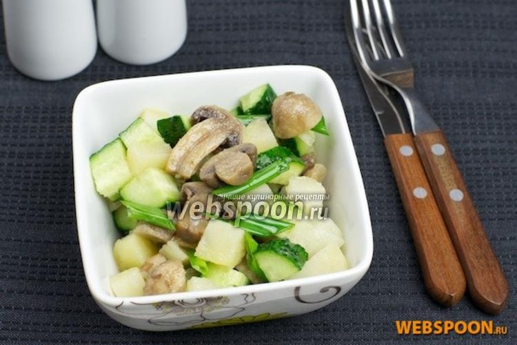 Фото Картофельный салат с грибами