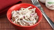 Фото рецепта Салат с говядиной и редькой