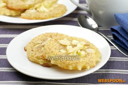 Тарталетки с миндальным кремом и яблоком