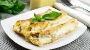 Фото рецепта Каннеллони с мясом под соусом бешамель