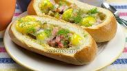 Фото рецепта Горячие бутерброды с яйцом
