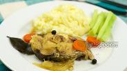 Фото рецепта Пеленгас тушёный с овощами